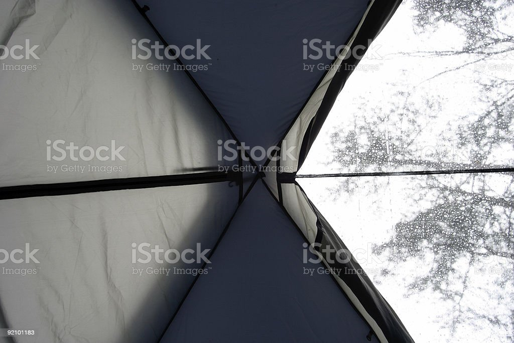 In a tent stock photo