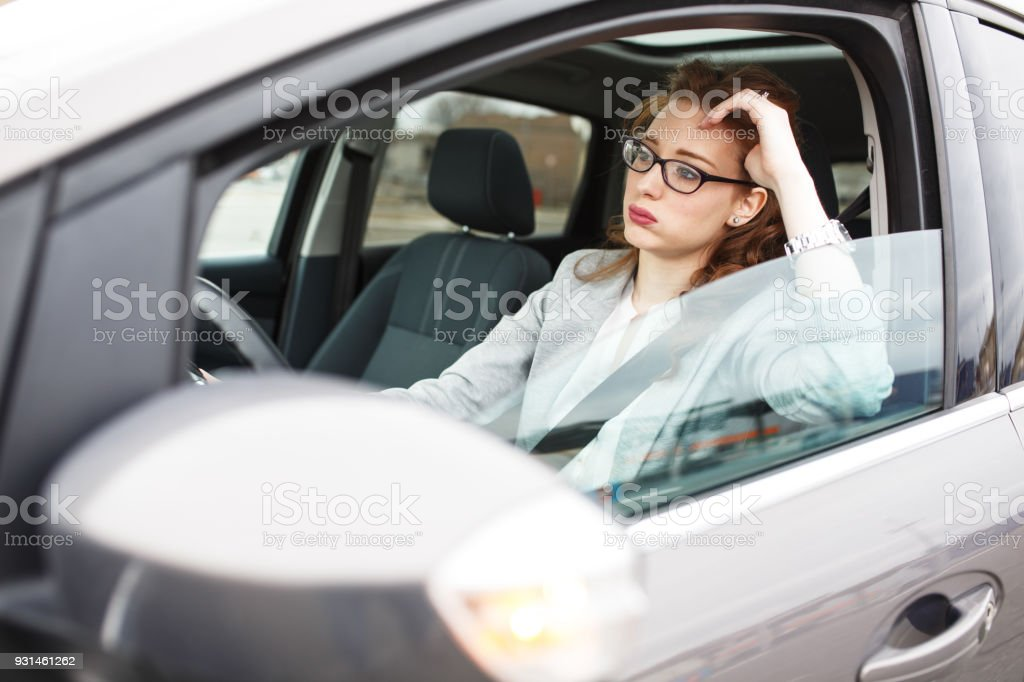 In a traffic jam stock photo