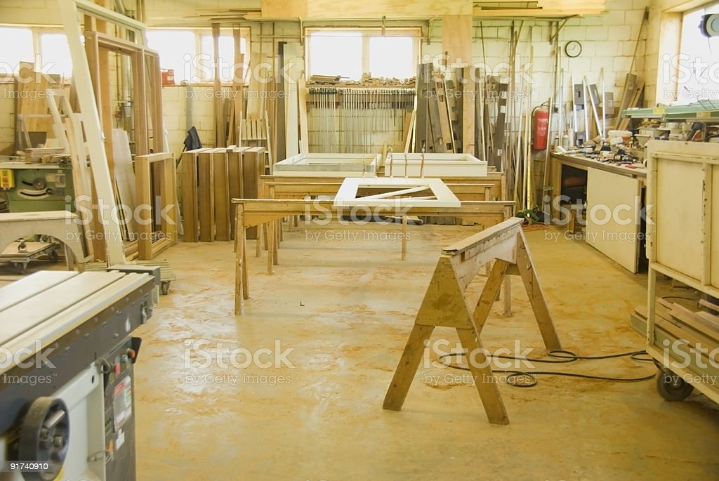 In a wooden workshop royalty-free stock photo