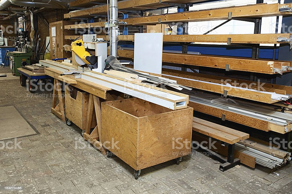In a workbench royalty-free stock photo