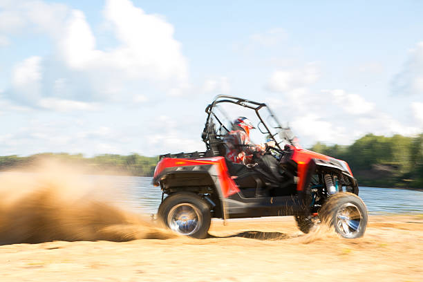 ATV in action ATV in action, having fun with sport quadbike stock pictures, royalty-free photos & images