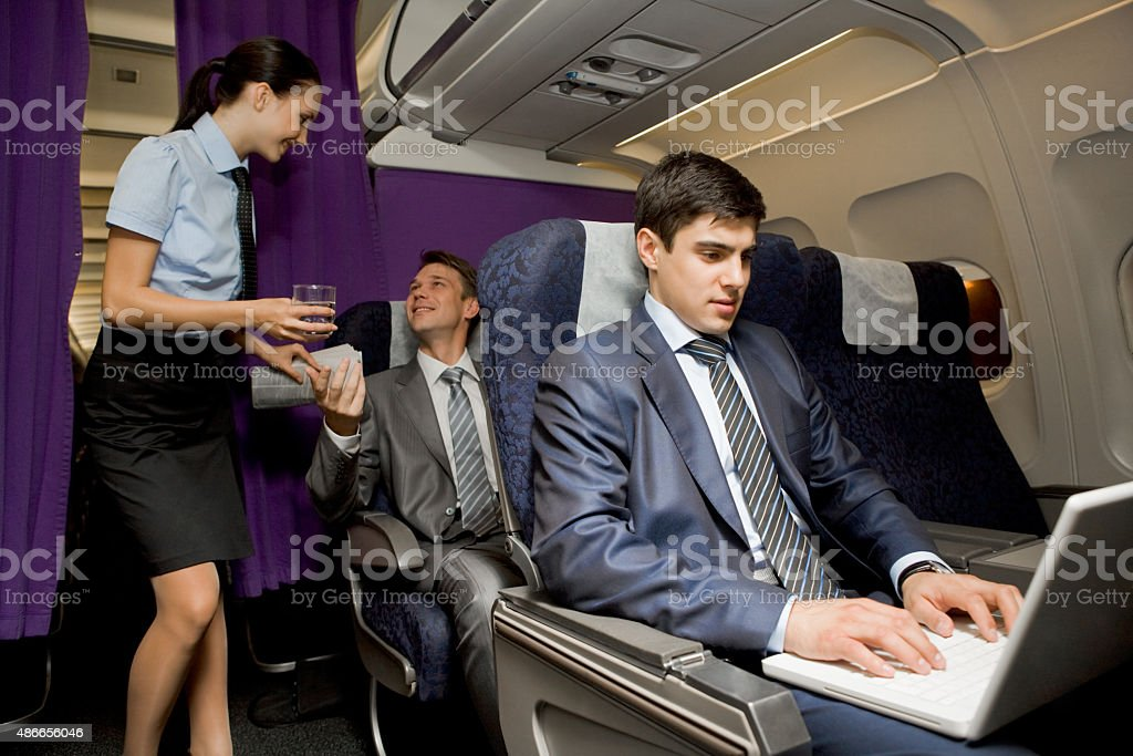 In airplane stock photo