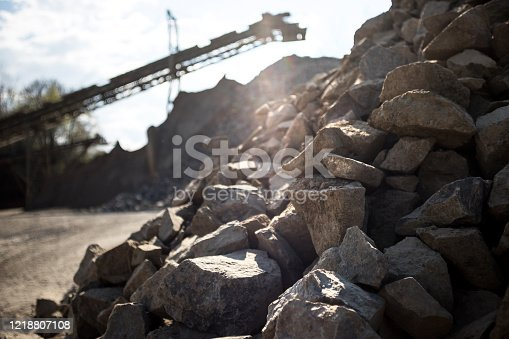 in an big quarry outdoors