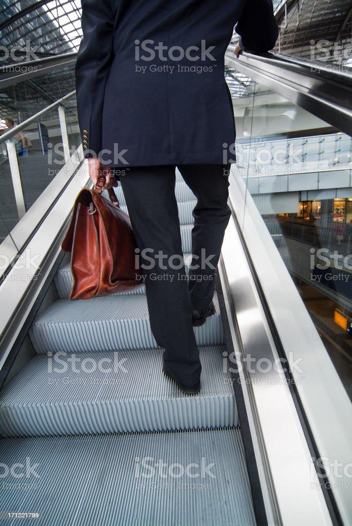 In an escalator royalty-free stock photo