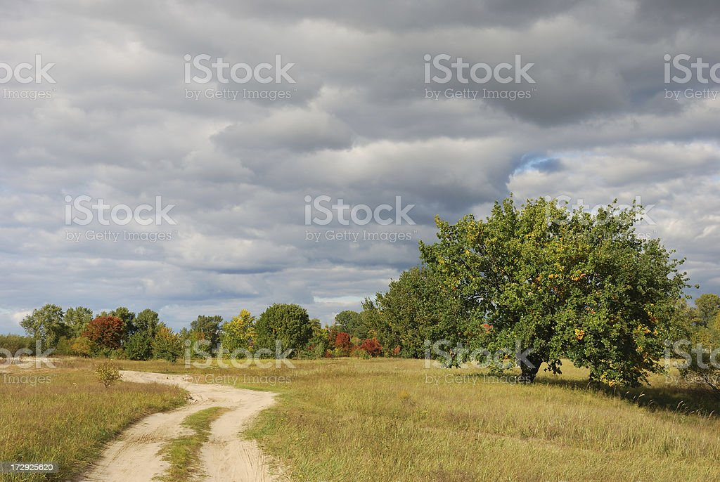In anticipation of storms stock photo