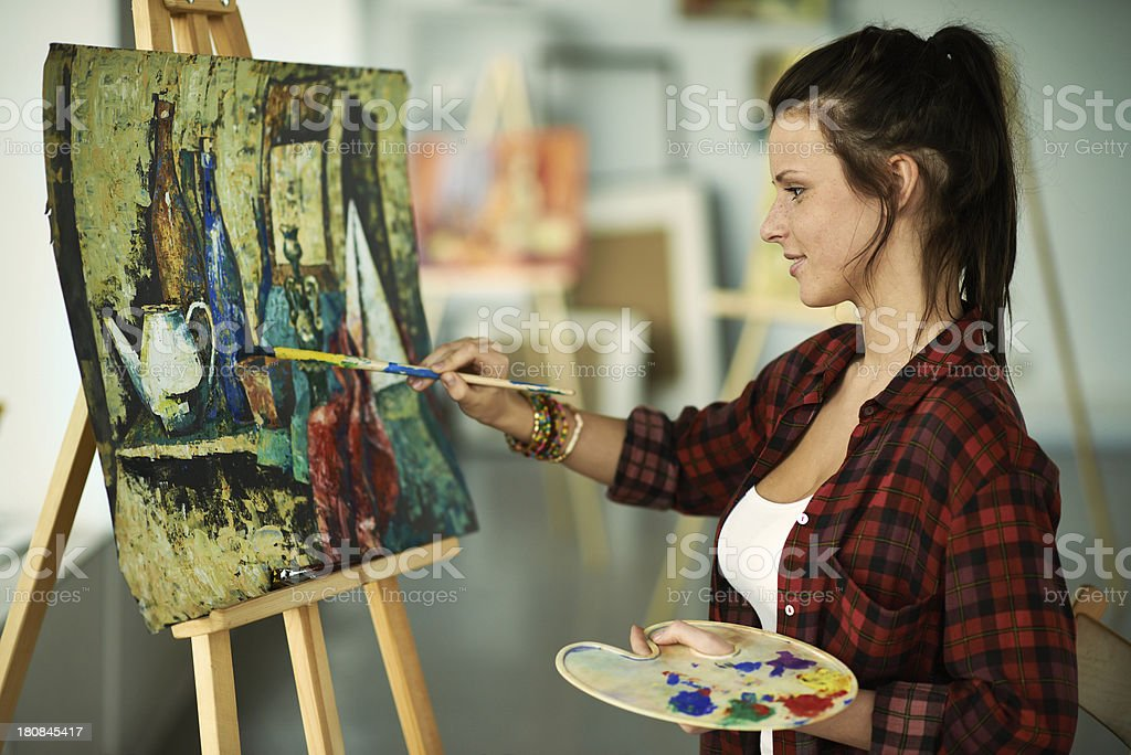 In art class royalty-free stock photo