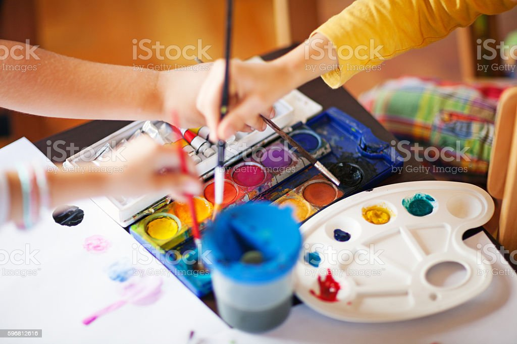 In art class stock photo