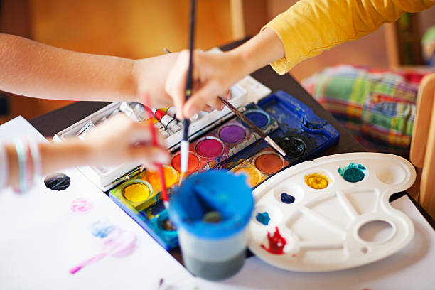 in art class - art and craft stock pictures, royalty-free photos & images