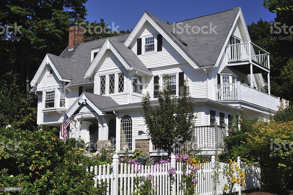 B&B in Bar Harbor stock photo