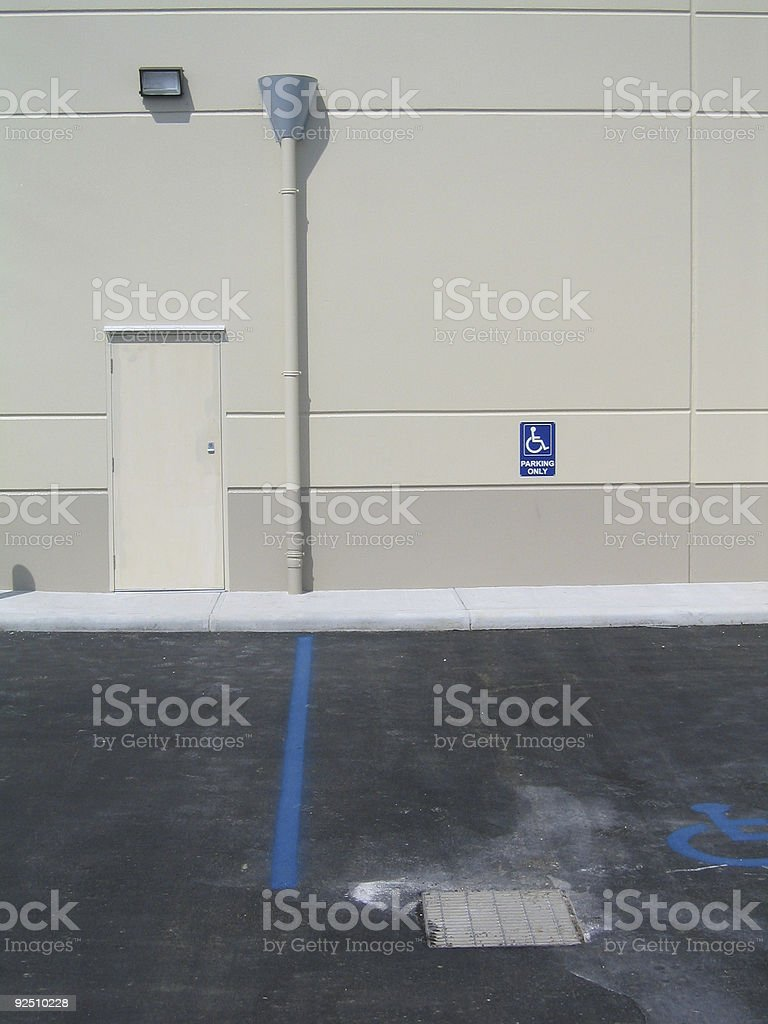 In behind buildings in an industrial area royalty-free stock photo