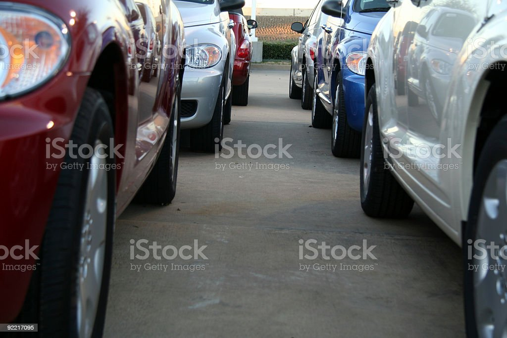 In between parked cars royalty-free stock photo