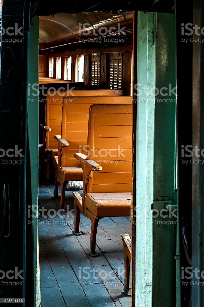 In Bogie of Old Railway Wagon stock photo