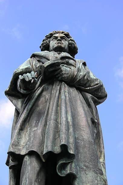 MONUMENT OF LUDWIG VAN BEETHOVEN in Bonn, Germany. stock photo