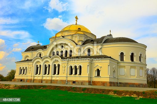 istock ST. NICHOLAS'S GARRISON ORTHODOX CHURCH in Brest Fortress, Belarus 484361236