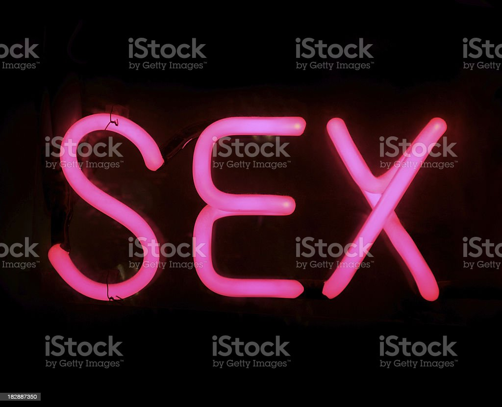SEX in Bright Pink Neon royalty-free stock photo