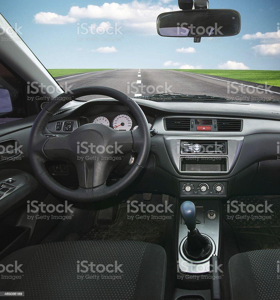 In car stock photo