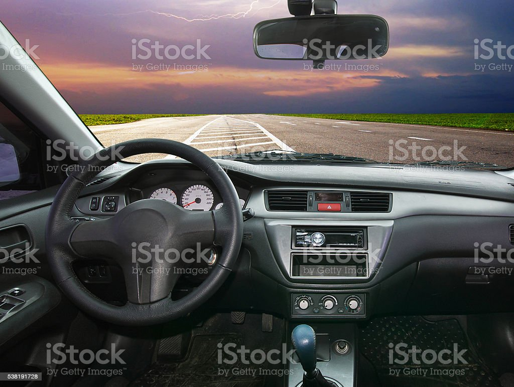 In car stock photo