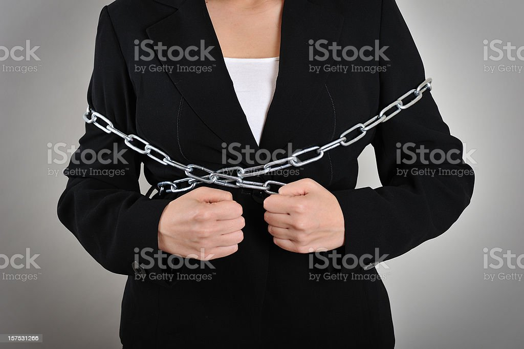 in chains stock photo