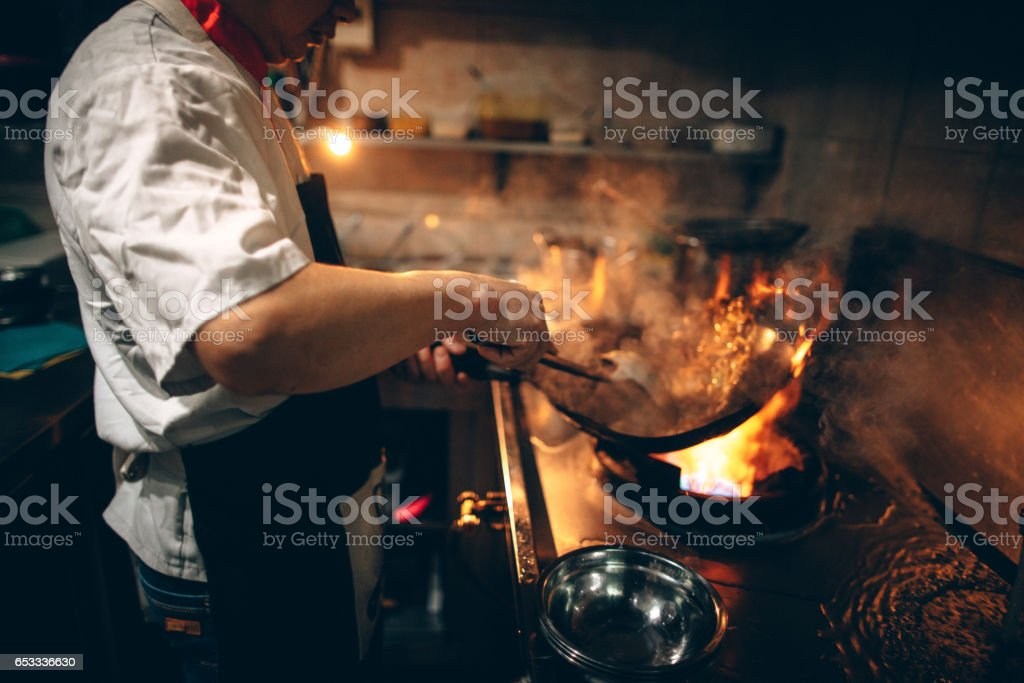 In Chinese restaurant stock photo