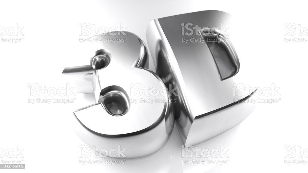 Representación 3D en letras cromadas - 3D - foto de stock