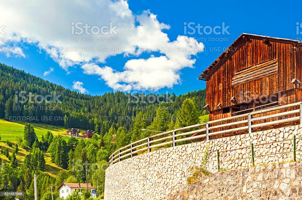 In Colle Santa Lucia, Dolomites stock photo