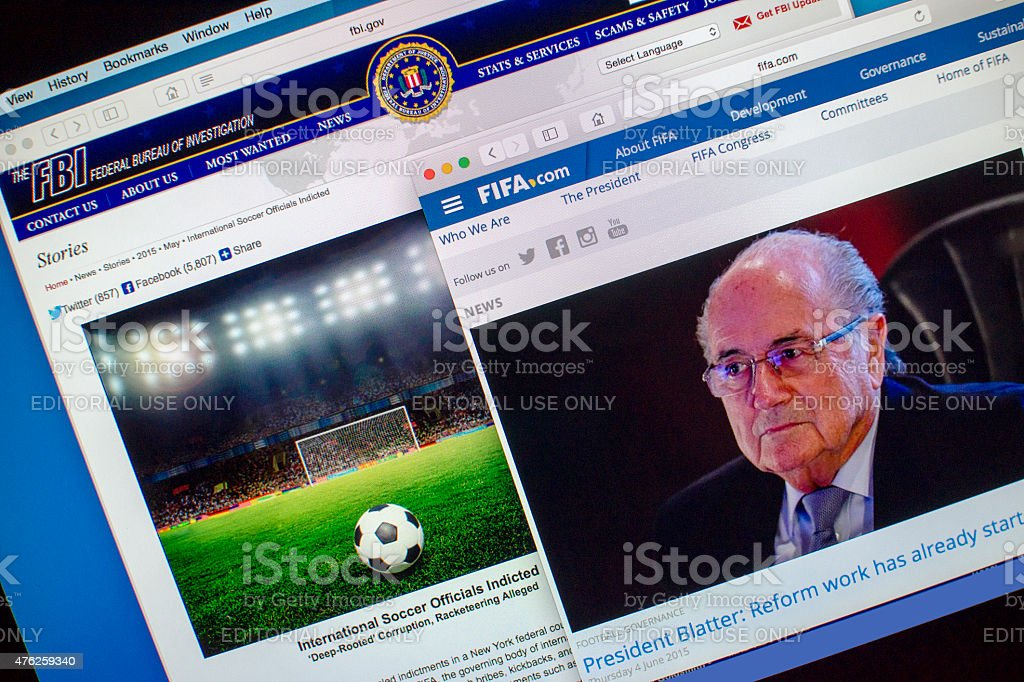 FIFA In Crisis stock photo