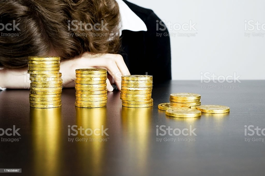 In Debt, Losing Money Concept royalty-free stock photo
