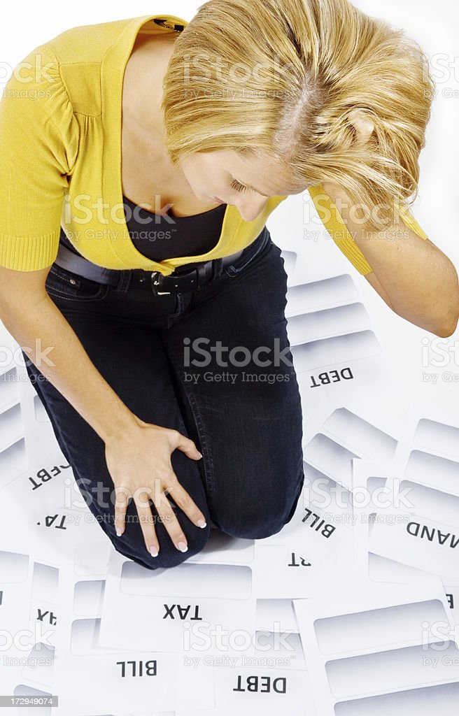 In debt royalty-free stock photo