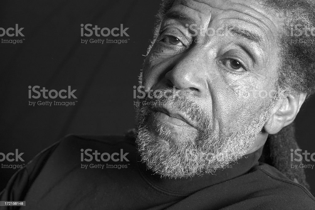 in deep thought royalty-free stock photo