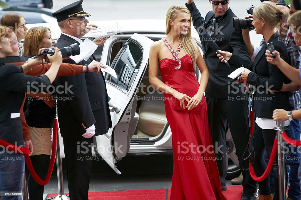In demand young actress! royalty-free stock photo