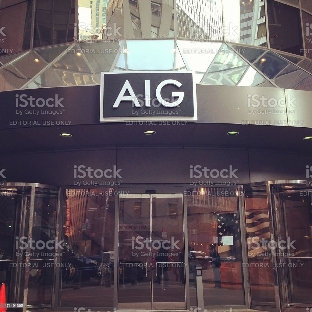 AIG in Downtown Manhattan royalty-free stock photo