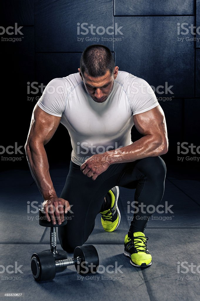 In Dumbbells We Trust royalty-free stock photo
