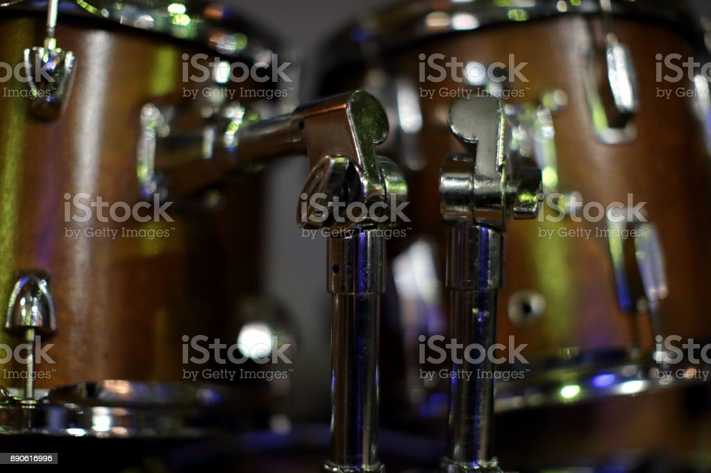 In every rock band and not only the basics of the musical instrument is the drums which gives the rhythm or speed to other instruments. stock photo