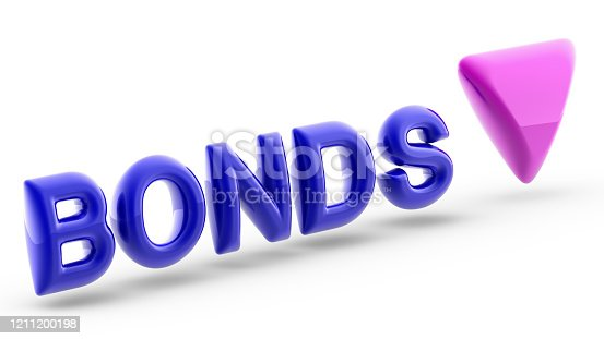 In finance, a bond is an instrument of indebtedness of the bond issuer to the holders. 3D Illustration.