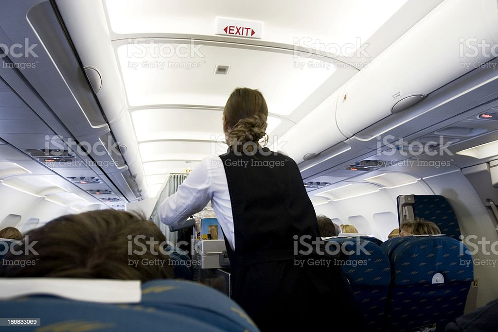In flight food stock photo