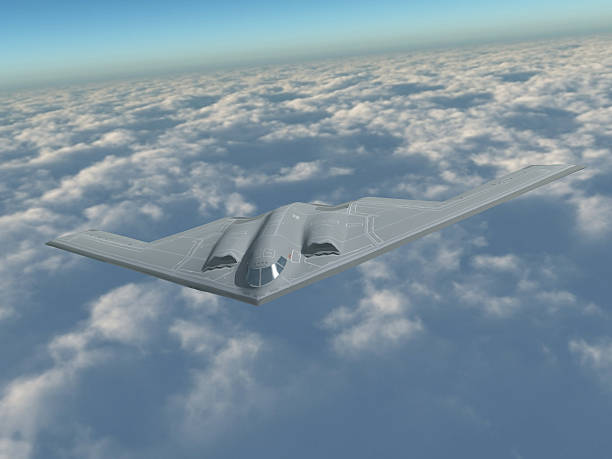B-2 in flight A 3D rendering of a B-2 bomber in flight. explosive stock pictures, royalty-free photos & images