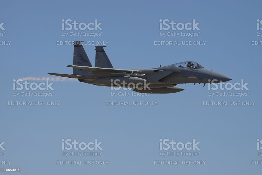 F-15 in Flight royalty-free stock photo