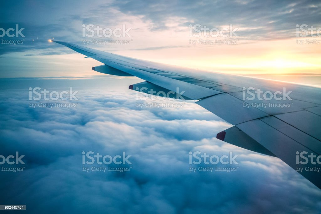 In Flight stock photo