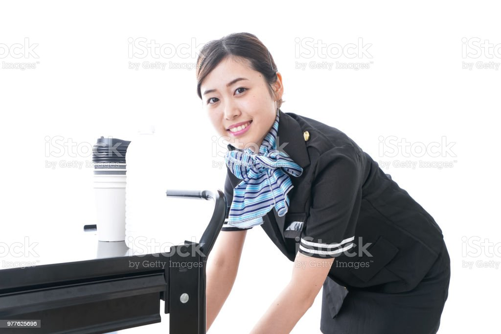In flight service stock photo