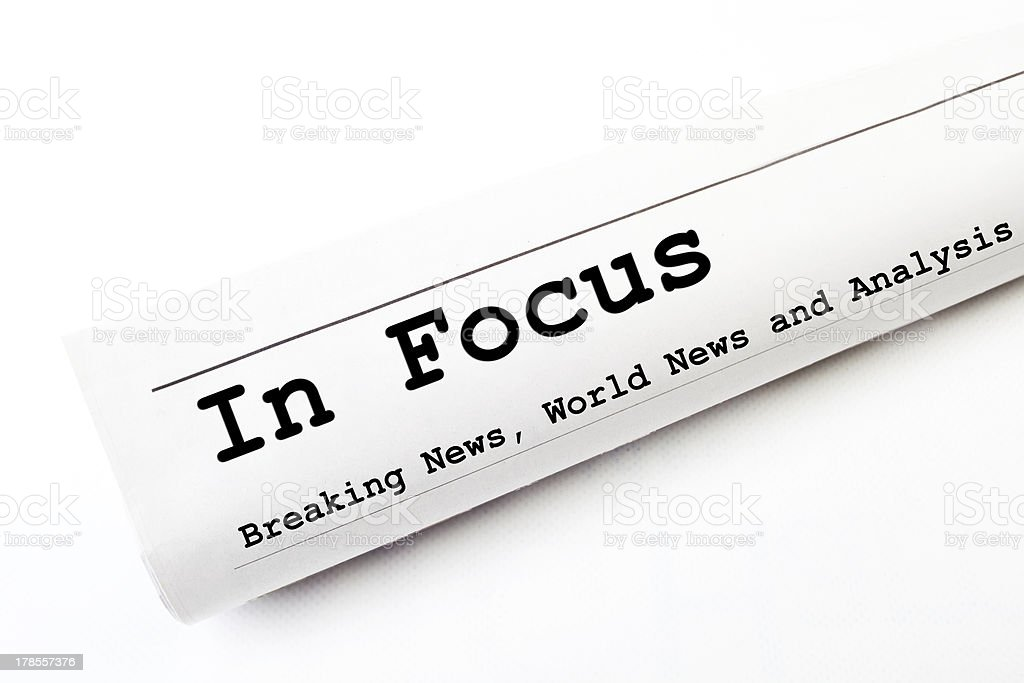 In Focus newspaper royalty-free stock photo