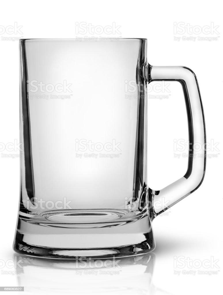 In front empty beer mug stock photo