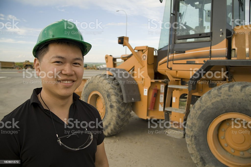 In Front of Machinery royalty-free stock photo
