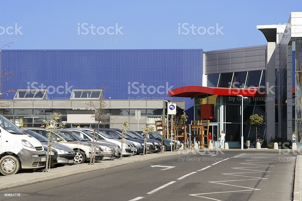 In front of mall royalty-free stock photo
