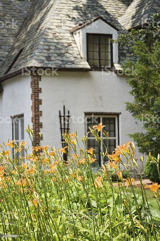 In front of the family house royalty-free stock photo