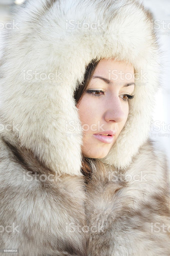 in furs royalty-free stock photo
