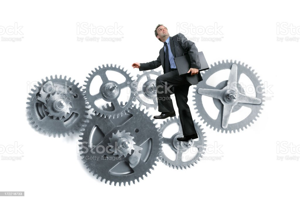 In gears of business royalty-free stock photo