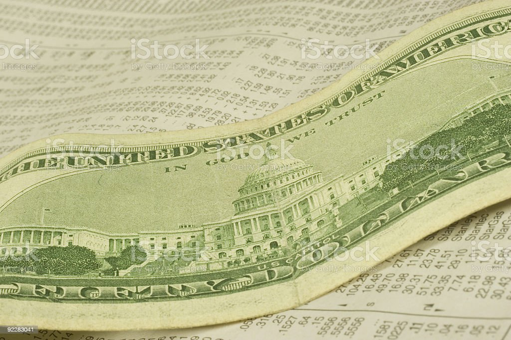 In God and Dollars We Trust royalty-free stock photo