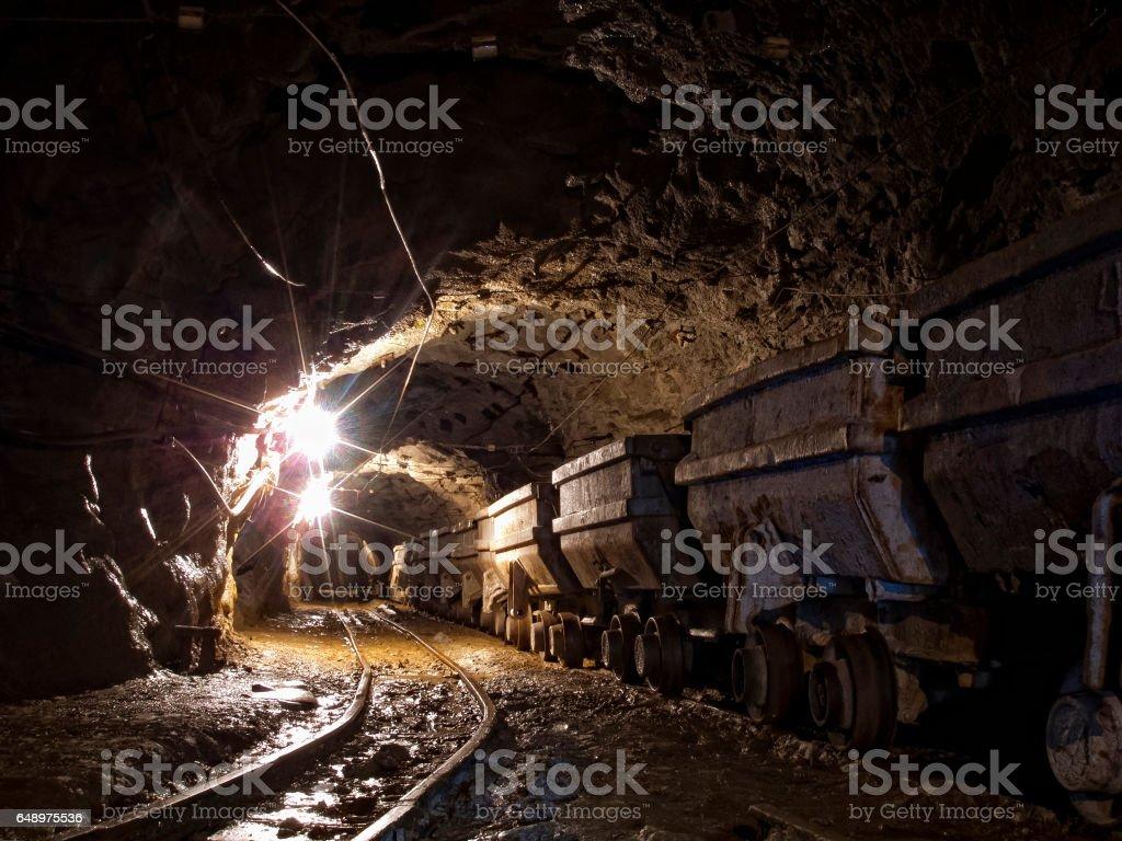 In gold mine stock photo