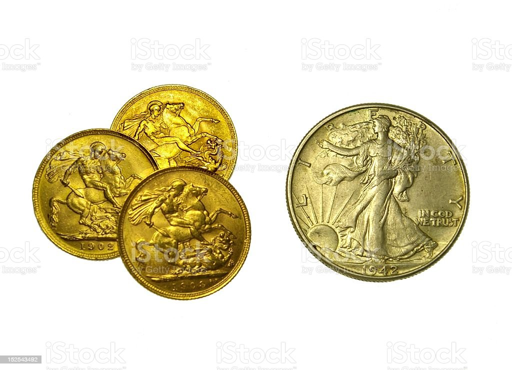 In Gold We Trust royalty-free stock photo