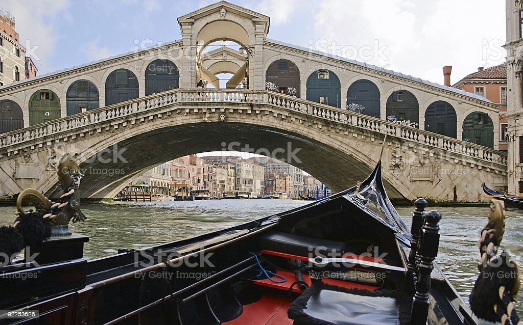 In  gondola on  Grand Canal royalty-free stock photo